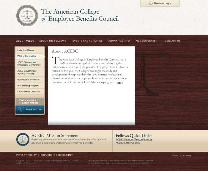 ACEBC Site, Short Page