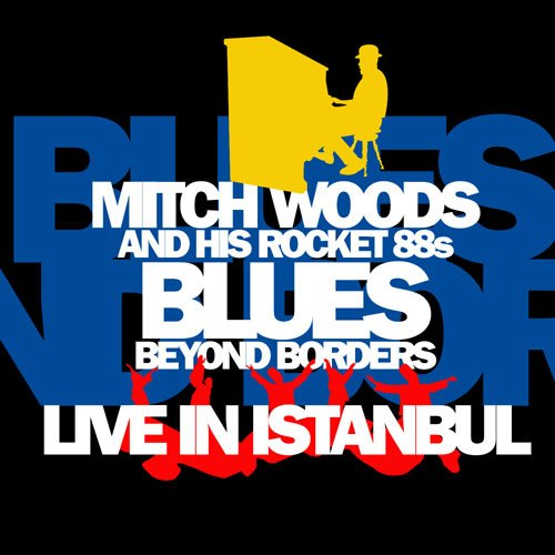 Mitch Woods CD cover sketch, round 1