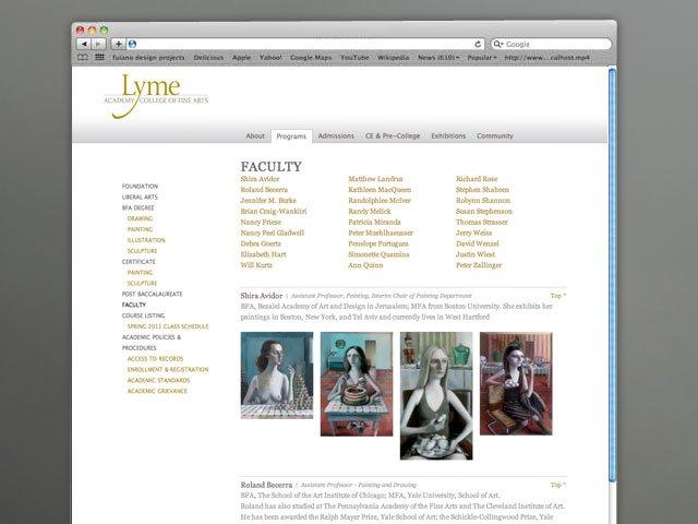 Lyme Academy  Faculty